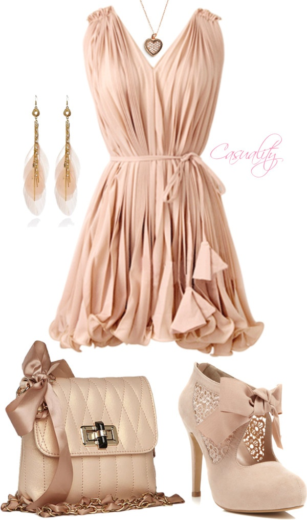 """Rose Pink Vintage Feminine Ruffle Dress"""