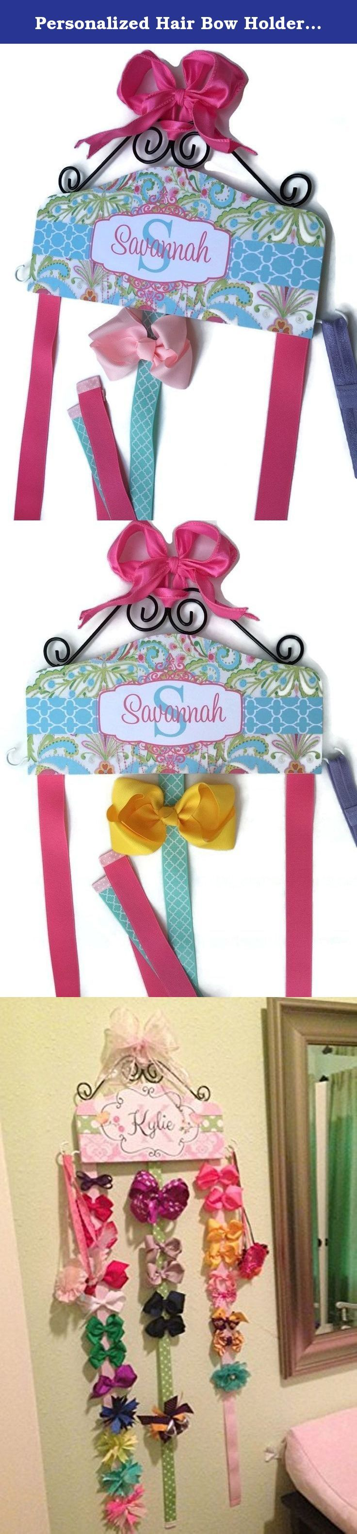 personalized hair bow holder made to match bedroom decor or bedding headband holder
