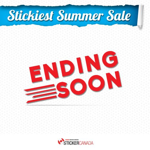 Yes! Stickiest Summer Sale will end soon. Inquire us now and enjoy our stickers promo.