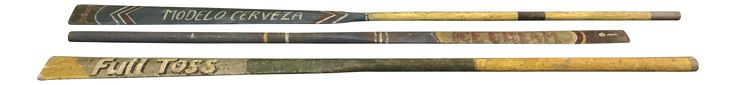 Vintage Style Mexican Painted Rowing Oars - Set of 3 on Chairish.com