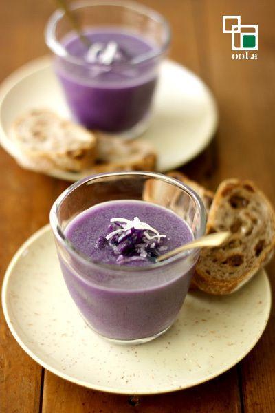 ココナッツオイルで☆紫キャベツのポタージュ