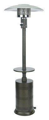 """Ace Trading - Outdoor Firepits SRPH31 Propane Patio Heater 90"""" by Living Accents. $145.73. Powder coated.. 40000 BTU heat output.. """"LIVING ACCENTS"""" PROPANE PATIO HEATER. Steel body frame in Hammertone Bronze skin.. 32.3""""L x 32.3""""W x 90.5"""" H.. """"LIVING ACCENTS"""" PROPANE PATIO HEATER      * 32.3""""L x 32.3""""W x 90.5"""" H.     * Steel body frame in Hammertone Bronze skin.     * Powder coated.     * 40000 BTU heat output.     * Heating area about 210 square feet.     * Gas consump..."""