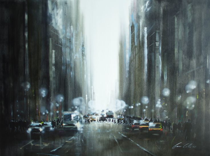 "Gavin Collins Paintings Title: ""City Lights"" Size: 2m x 1,5m"