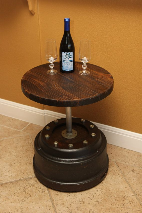 Tractor Brake Drum End Table By Industrialenvy On Etsy