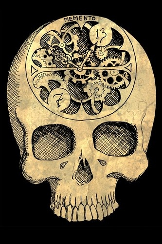 Fleeting by Shayne Bohner Steampunk Clockwork Goth Skull Canvas Art Giclee Print | eBay