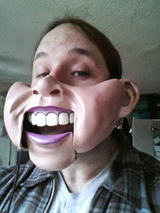 The Incredible Professional Chubby Ventriloquist Mask