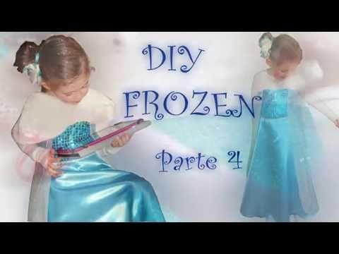 4. Disfraz Frozen - cortar falda y capa