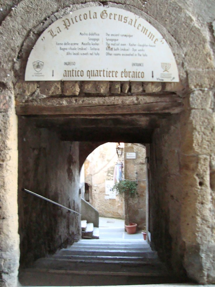 """Which is this Tuscan village also known as the """"Little Jerusalem"""" ?"""