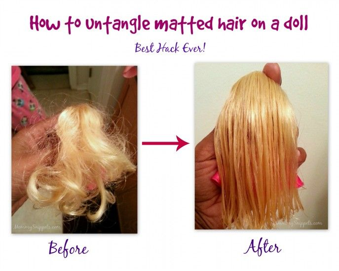 How to untangle matted hair on a doll: Best Hack Ever! - Mommy Snippets