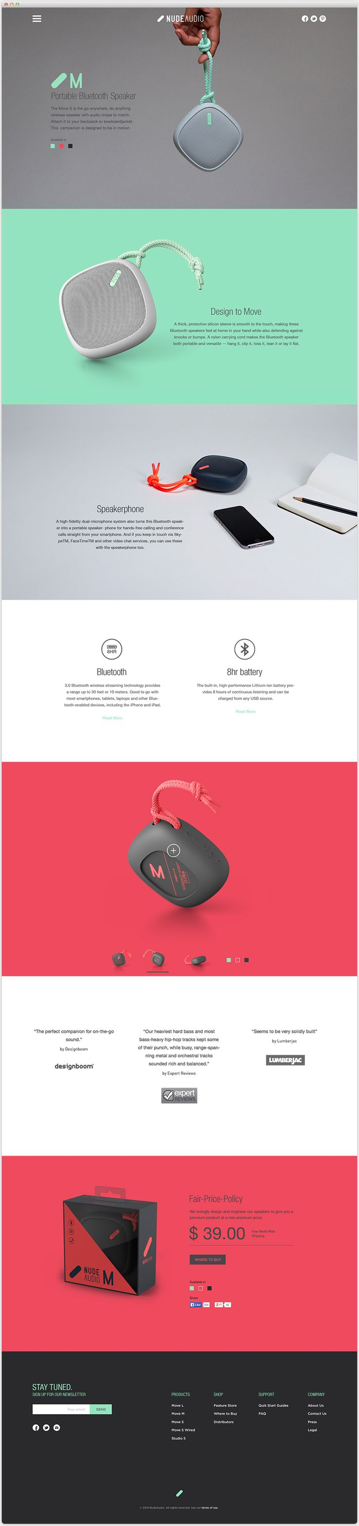 Nude Audio Website by André Britz on Behance