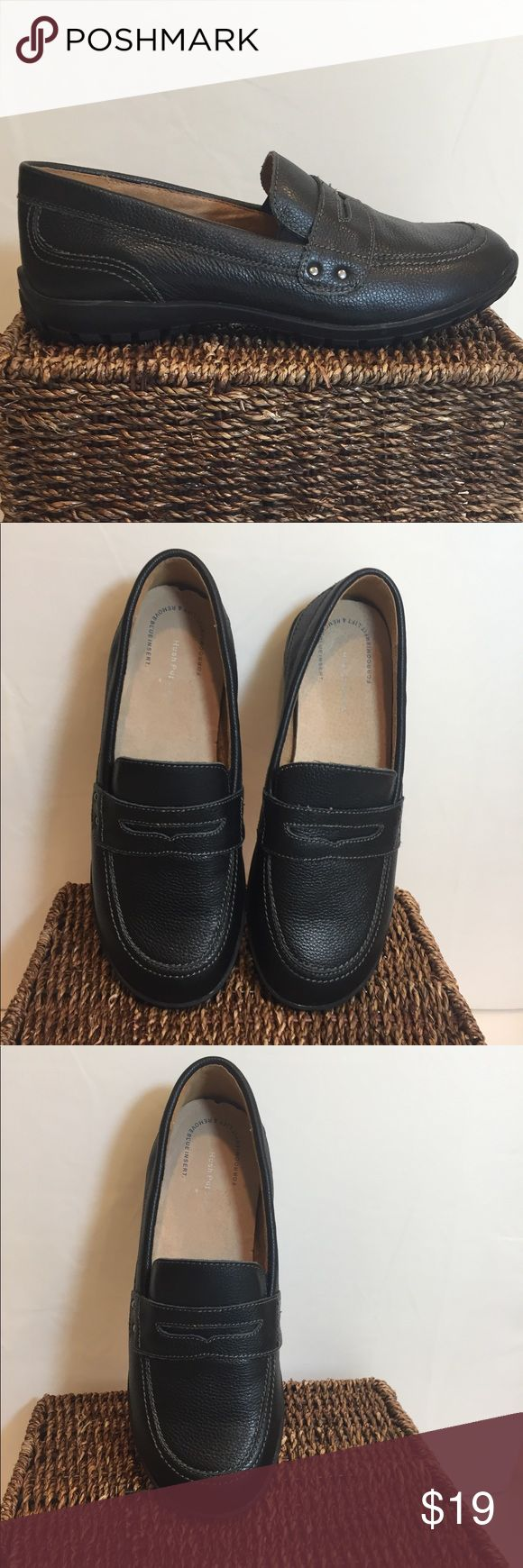 Leather NEW Hush Puppies Adjustable Penny Loafers Dual Fit System allows the removal of the inner insoles for roomier fit. Genuine leather with breathable microfiber lining. Flexible outsole with good traction. Retails for $68.  NEW without tags. Hush Puppies Shoes Flats & Loafers