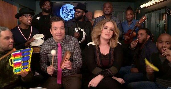 """Buna dimineata! Pe ploaia asta daca nu iei repede o """"pastila""""de veselie, risti sa ramai mofluz toata ziua. Asa ca mi-am asortat cafeaua cu minunatulJimmy Fallon si Adele. Invitata la The Tonight Show, Adele, Jimmy si The Roots …au facut un jam session cu instrumente muzicale pentru copii. Cool! Unde e talent si oameni pozitivi, e audienta maxima. Cafeaua mea """"canta"""" acum! See the video on emmazeicescu.ro #jimmyfallon #adele #music #fun #emmazeicescuro"""