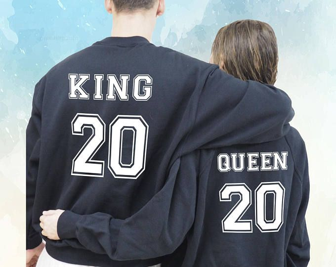 Sudaderas personalizadas, para parejas, King Queen unisex, Sudadera King Sudadera Queen King and Queen regalo de San Valentín, enamorados