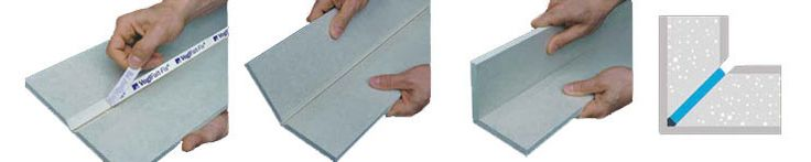 Fold Fix plasterboard jointing sequence