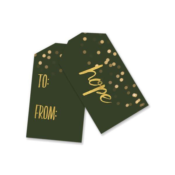 Printable Gift Tags | Green Bokeh