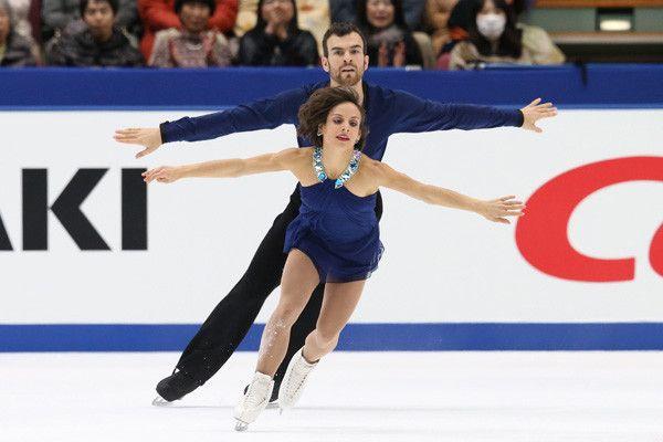 メーガン・デュアメル、エリック・ラドフォード組(カナダ)NHK杯・第2日(男女・ペアFS、アイスダンスSD)