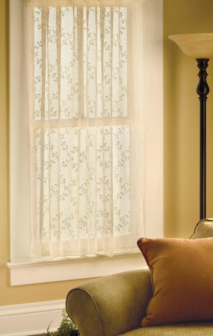Cotton lace curtains - Trellis Cotton Lace Curtains