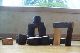 Life on Willowdale: Henry's Natural Wood Blocks: A Tutorial