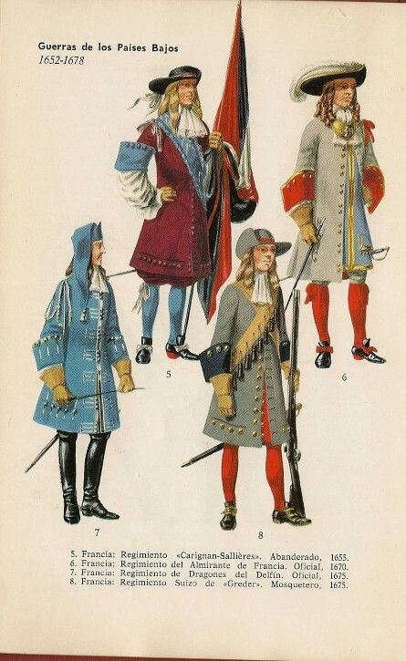 French troops in the service of Louis XIV.