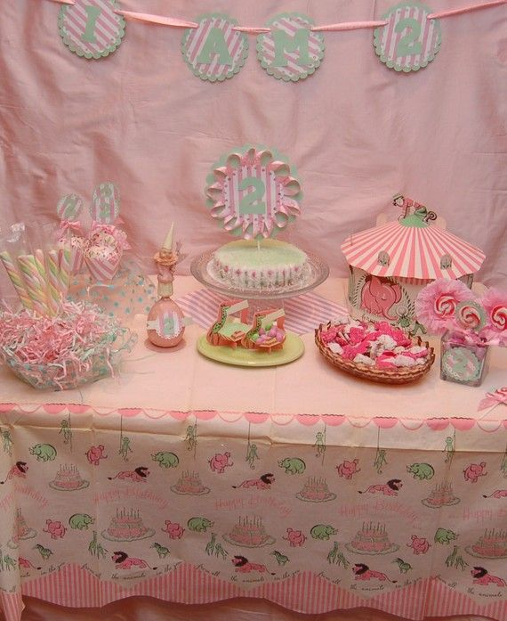 Vintage pink circus party!