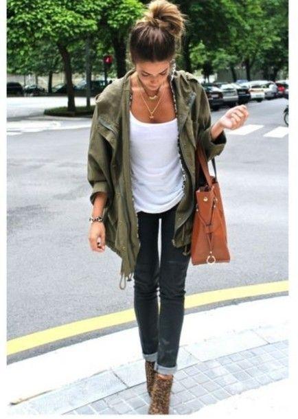 53 best How to wear: Khaki Jacket/Parka images on Pinterest | Fall ...