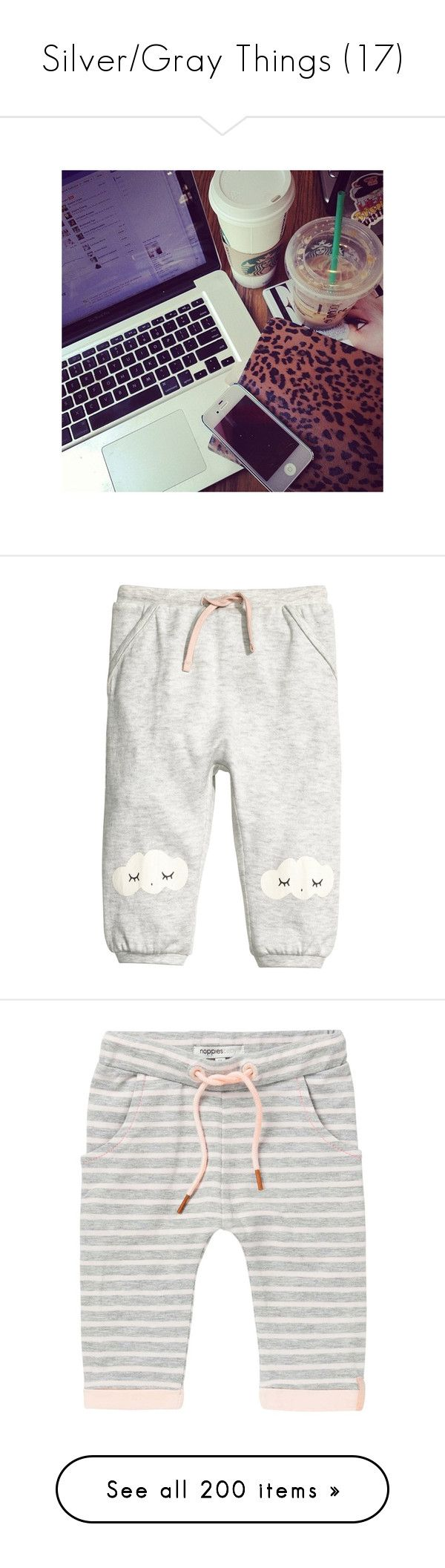 """Silver/Gray Things (17)"" by bvbtakeover ❤ liked on Polyvore featuring instagram, insta, pictures, tumblr, for instagram, pants, h&m trousers, print pants, white trousers and ribbed pants"