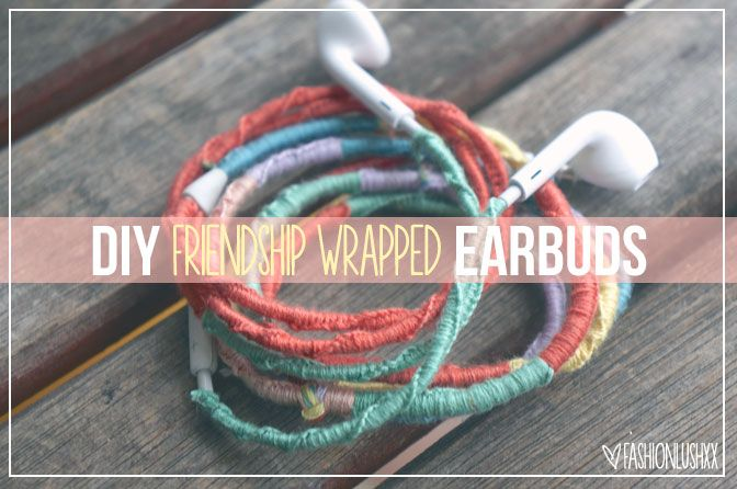 DIY Free People Wrapped Headphones- DIY tangle free earbuds -- my friend did it, and Allie's doing it right now. Definitely would like to try it when I have time.