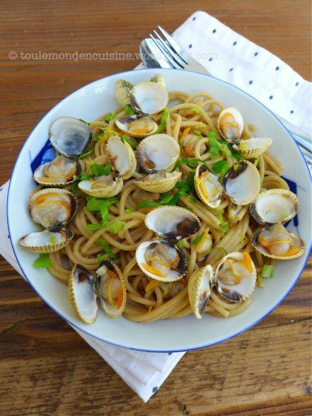 recette spaghetti aux coques 2