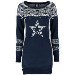 Women's Dallas Cowboys Klew Navy Big Logo Ugly Sweater Dress