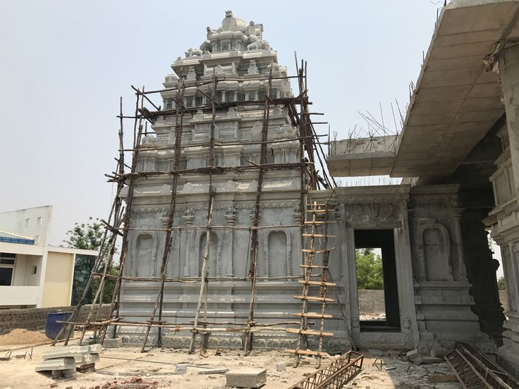 Dashavatara Venkateswara temple made of stone at Guntur town gets ready for Kumbhabhishekam - inauguration