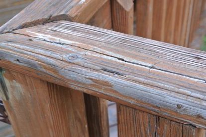 rust oleum deck restore d our deck, decks, diy, how to, You can see how old splintered and beat up the old deck looked