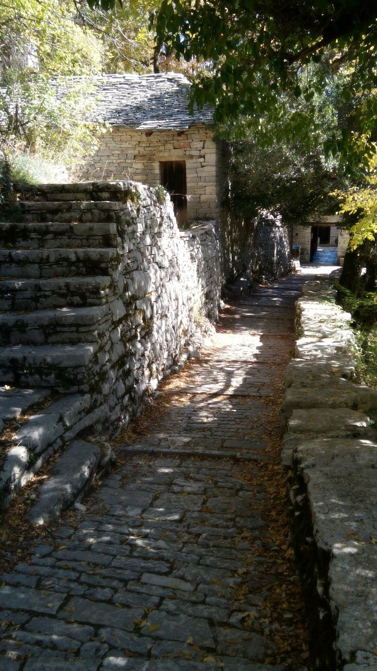 Monastery of Aghia Paraskevi in the gorge of Vikos, Epirus, Greece. Photo Anatoli Kostopoulou.