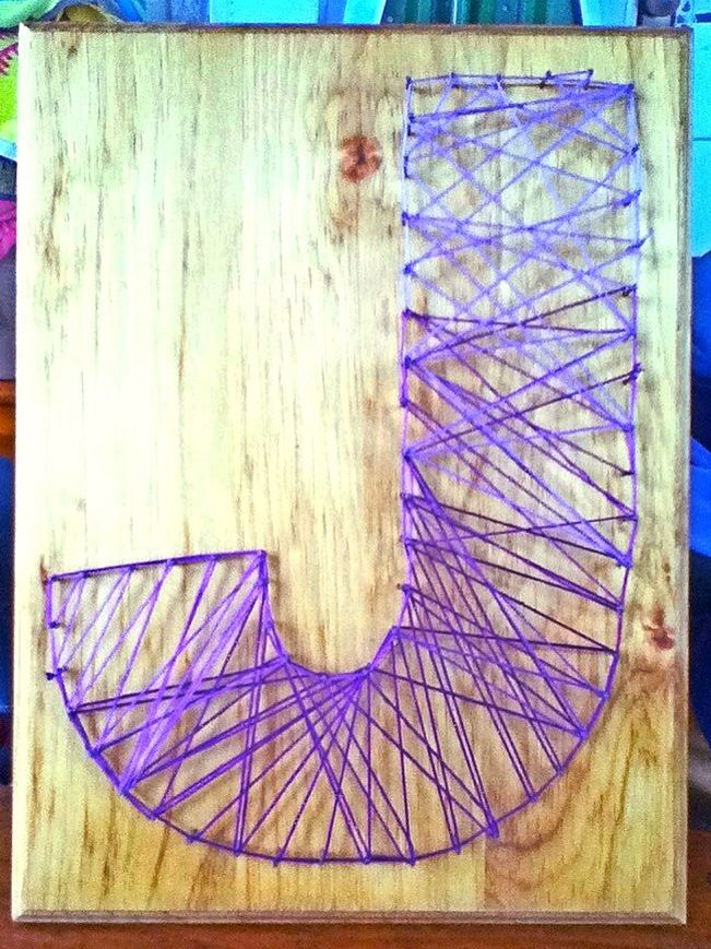 DIY string art. #dorm #decor