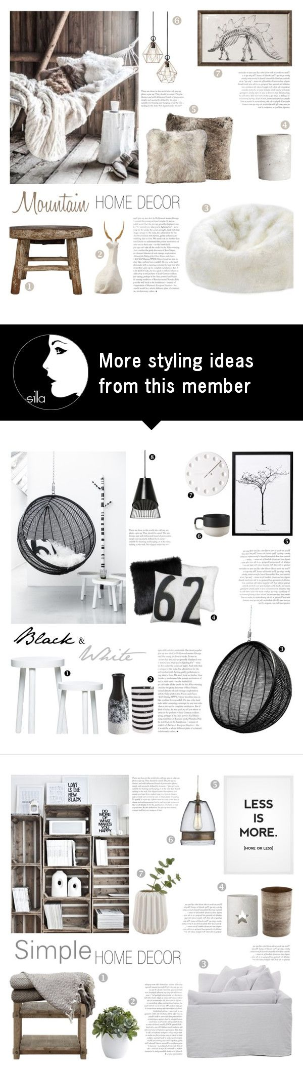 """Mountain Home Decor"" by c-silla on Polyvore featuring interior, interiors, interior design, home, home decor, interior decorating, Alyx, Dot & Bo, Christopher Guy and H&M"