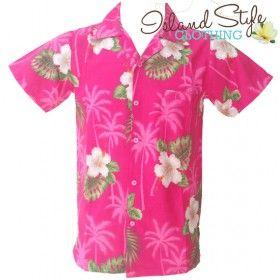 Loud Tropical PinkHibiscus | Mens Hawaiian Shirt | Plus Size - Big Boys Loud Party Clothing. Hawaiian Fancy Dress Costume. http://islandstyleclothing.com.au/menswear/hawaiianshirts-plussize