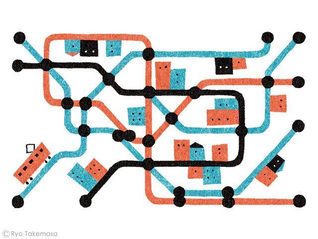 https://flic.kr/p/rBd4dV | Public Transport | Illustration for an essay in Monocle magazine, issue 65.