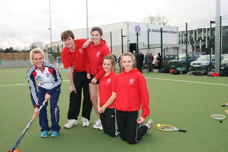 St Bartholomews School Hockey Pitch - Opened by Team GB Hockey Player, Alex Danson
