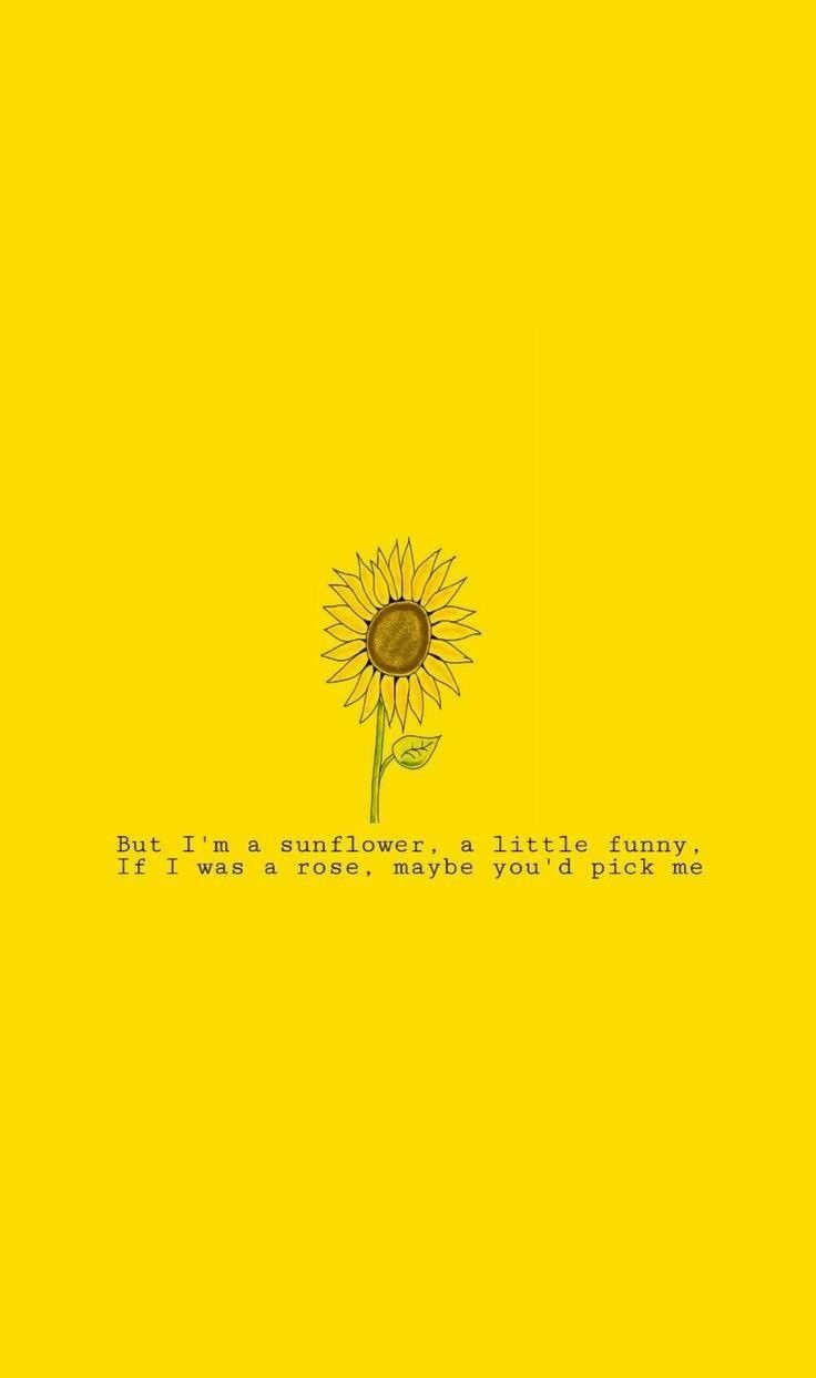 Yellow Tellings Yellow Quotes Yellow Wallpaper Sunflower Wallpaper