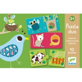 puzzel duo leefruimte (10x2st) | djeco | ilovespeelgoed.nl | DJ08164