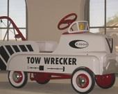 Rare Vintage Original 1950 'S Amf Bmc Cab Over GMC Tow Wrecker Pedal Car Truck