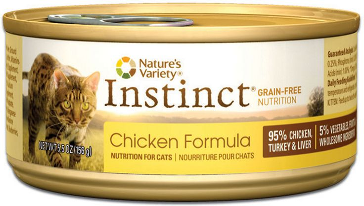 Nature's Variety Instinct Grain-Free Chicken Formula Canned Cat Food, 5.5-oz, case of 12