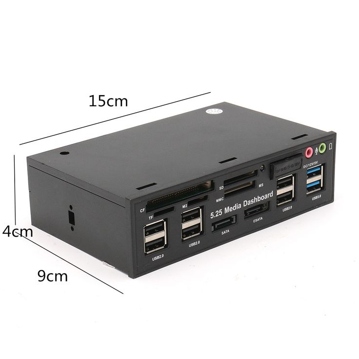 5.25インチ  USB3.0  多機能  SD TFカードリーダー SATA USBハブオーディオフロントパネル メディアダッシュボード