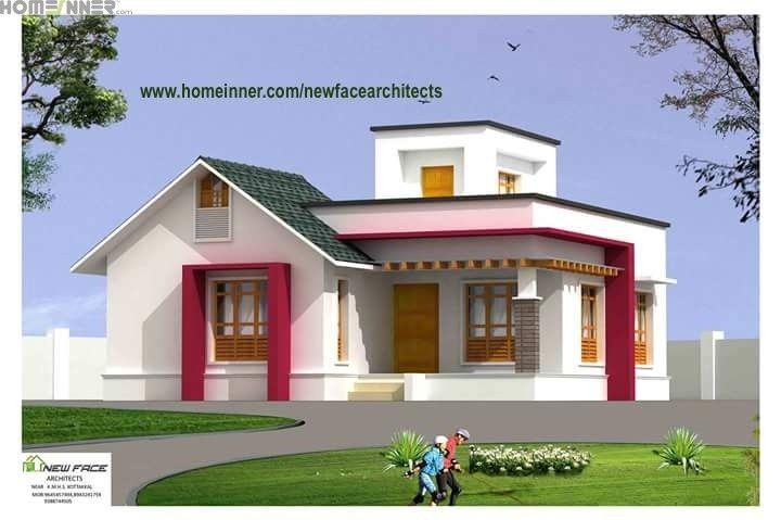1000 sq ft low cost kerala house design newface architects for Low cost house plans with photos