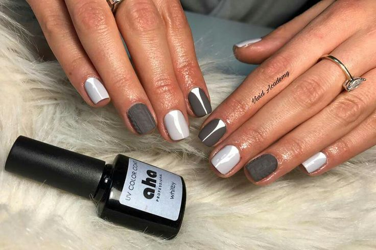 Grey nails #winternails #mattenails