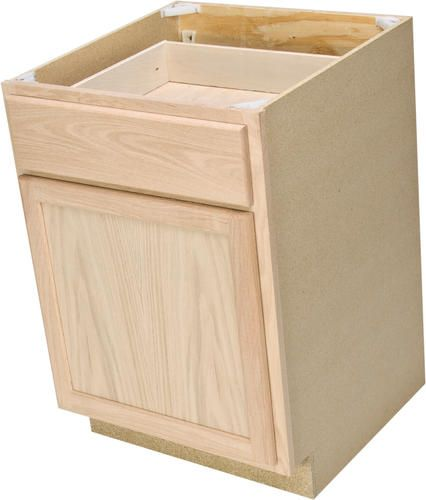 "Unfinished Kitchen Island Cabinets: Quality One 24"" X 34-1/2"" Unfinished Oak Base Cabinet With"