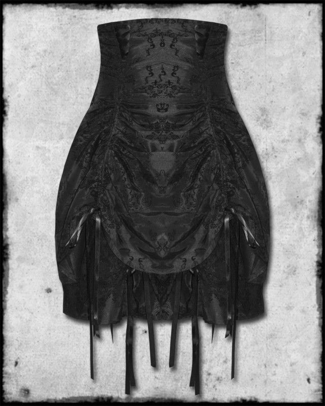 Spin Doctor Constatine Black Victorian Steampunk High waisted Corset Skirt