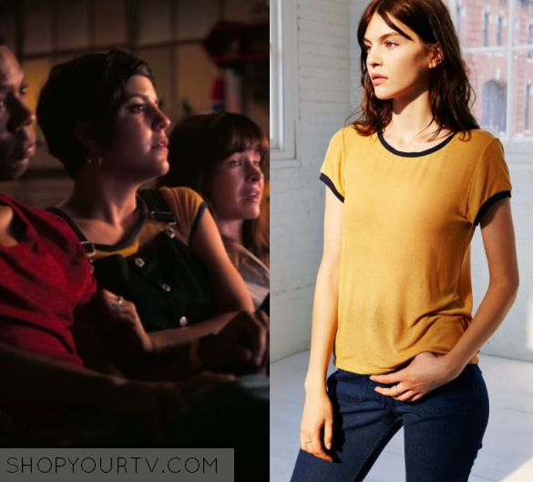 """Girlboss: Season 1 Episode 4 Annie's Yellow Contrast Trim Tee 