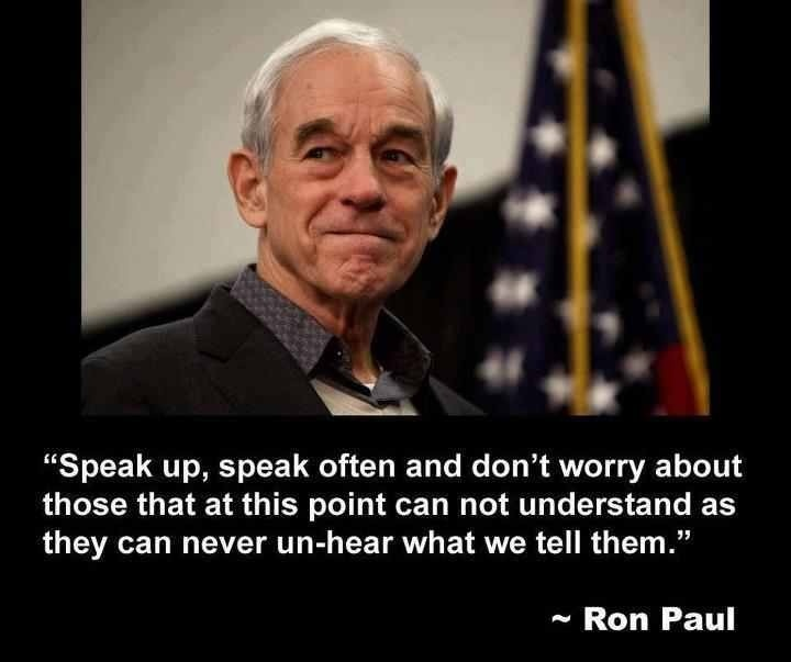 Ron Paul may never be President but the loss may be ours? What do you think?