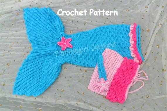 This listing is for the crochet PATTERN ONLY for an Open Tail Mermaid Skirt Costume with directions for skirt, shirt, headband, and star clip.