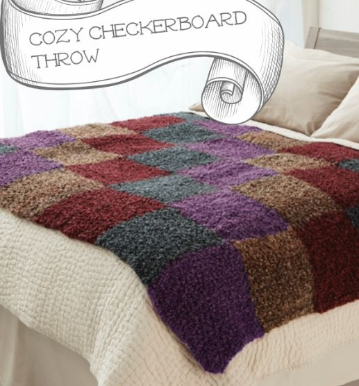 Cozy Checkerboard Throw free pattern